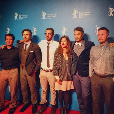 Taika Waititi, the cast and producers at the 'What We Do in the Shadows' European premiere, February 12, 2014, Berlin.