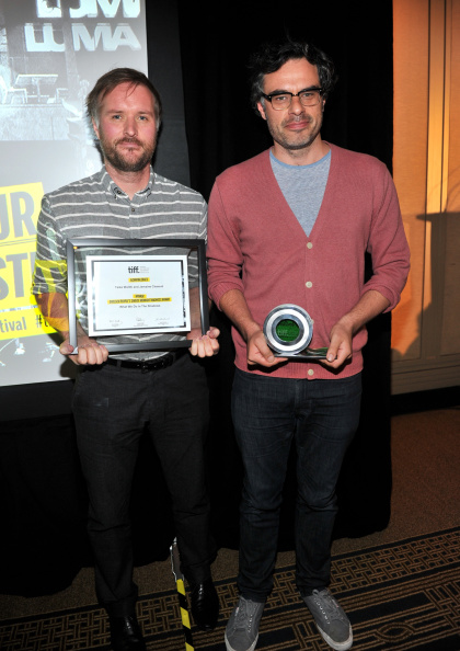 Stu and Jemaine with the Midnight Madness People's Choice Award. Photo by Sonia Recchia/WireImage