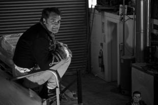 Jed Soane: Giant vampire, tiny beer. From the @NZbeercalendar shoot at @TuataraBrew today.