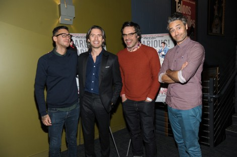 Cori Gonzalez-Macuer, Emanuel Michael, Jemaine Clement and Taika Waititi at the screening of What We Do in the Shadows at the Landmark Sunshine Theater in New York City, February 12, 2015. Photo by Rommel Demano/Getty Images North America